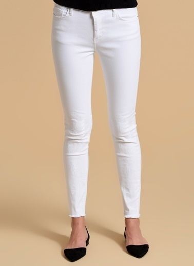 Fashion Friends Slim Fit Pantolon Beyaz